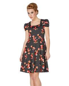 1ec0011e9c2 Voodoo Vixen polka dot floral Jemima dress